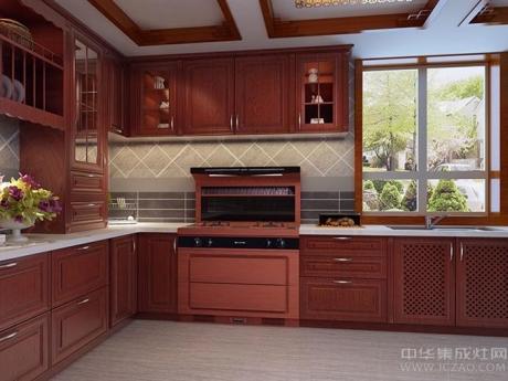 普森集成灶厨房效果图