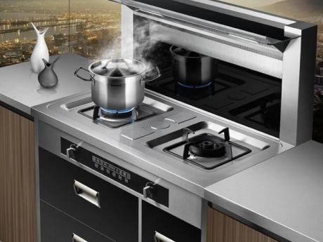 大吸力油烟机搭配大火力燃气灶,如此烟灶 美食自造